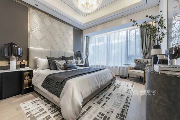 簡歐輕奢,色彩與美感的完美結合-臥室效果圖及設計說明