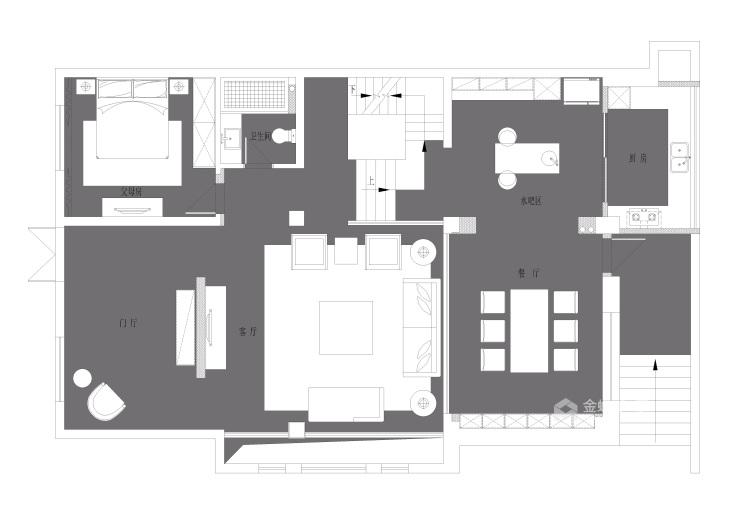 这样的婚房你喜欢吗?-平面设计图及设计说明