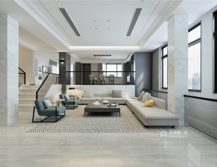 这样的婚房你喜欢吗?-客厅效果图及设计说明