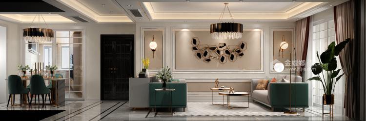 簡歐輕奢,色彩與美感的完美結合-餐廳效果圖及設計說明