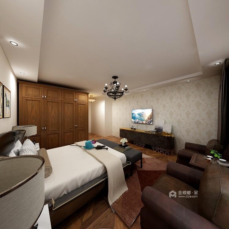 251大户型典雅欧式风-卧室效果图及设计说明