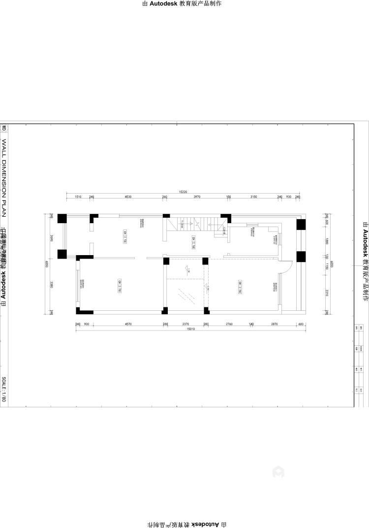 350大户型现代传统相结合-业主需求&原始结构图