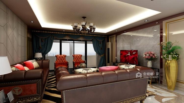 251大户型典雅欧式风-客厅效果图及设计说明