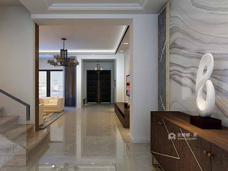 350大户型现代传统相结合-餐厅效果图及设计说明