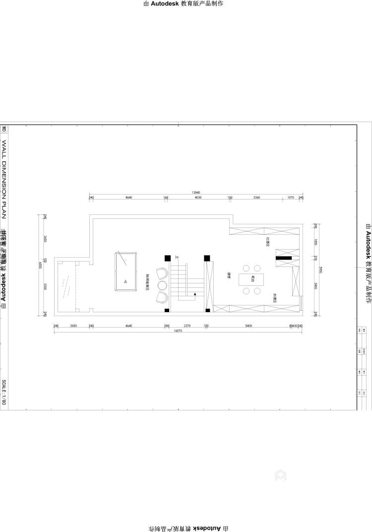 350大户型现代传统相结合-平面设计图及设计说明