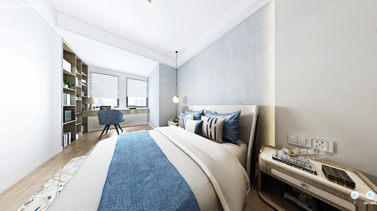 都市中的简约生活 124㎡现代三居-卧室效果图及设计说明