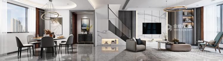 大宅里的现代生活 260㎡现代别墅-餐厅效果图及设计说明