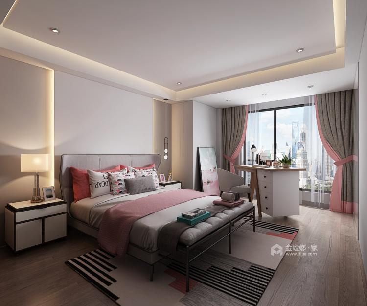 大宅里的现代生活 260㎡现代别墅-卧室效果图及设计说明