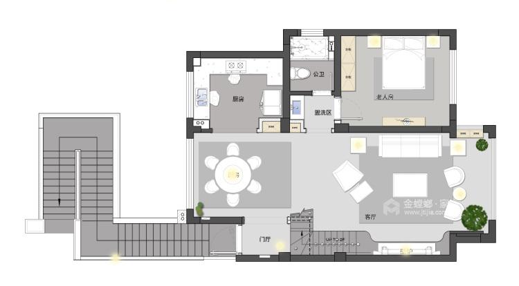 大宅里的现代生活 260㎡现代别墅-平面设计图及设计说明