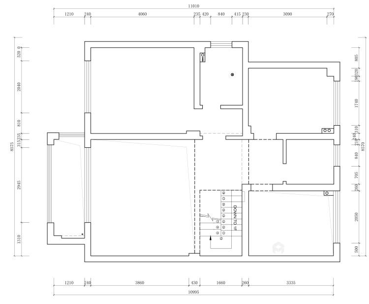 大宅里的现代生活 260㎡现代别墅-业主需求&原始结构图