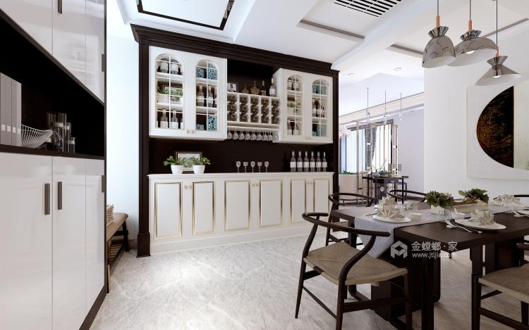 126平新中式,典雅大气-餐厅效果图及设计说明