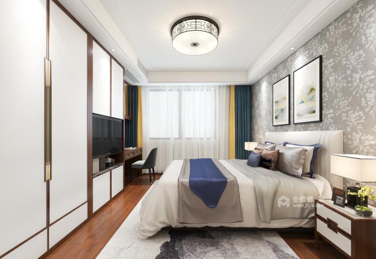 唯美典雅新中式大宅-卧室效果图及设计说明