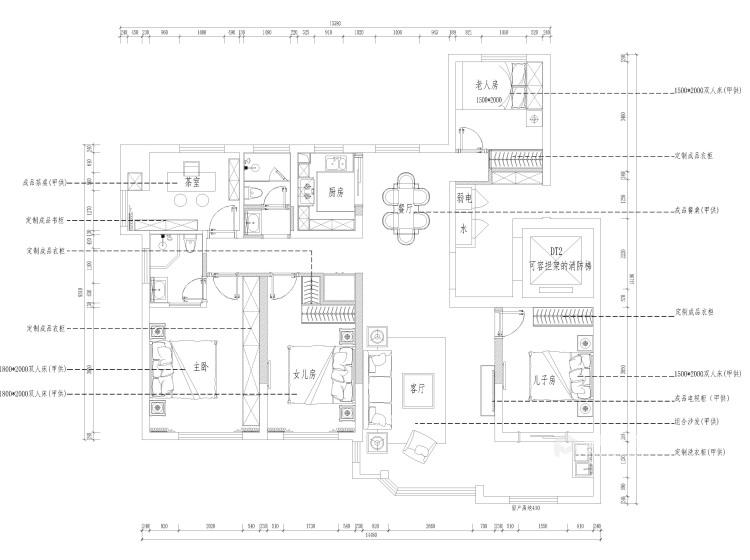 唯美典雅新中式大宅-平面设计图及设计说明