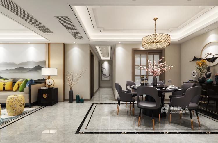 唯美典雅新中式大宅-餐厅效果图及设计说明