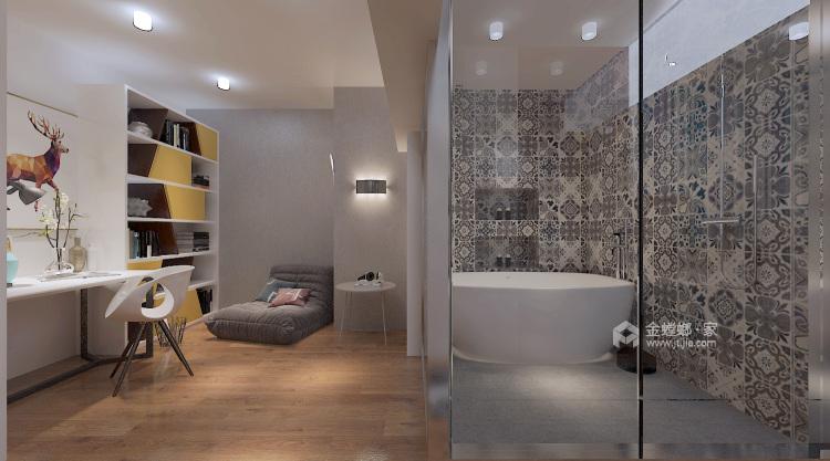 俏皮可爱的明黄色两口之家-卧室效果图及设计说明