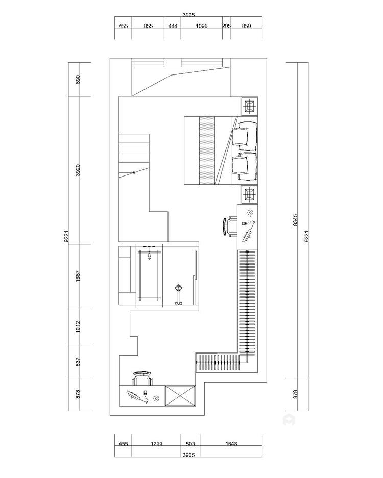 俏皮可爱的明黄色两口之家-平面设计图及设计说明