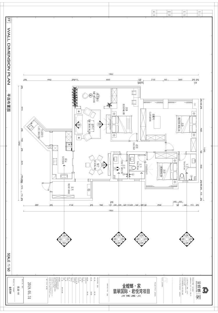 君悦湾欧式风格-平面布置图