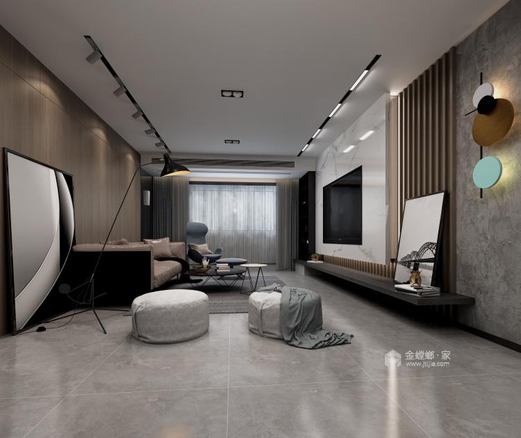 现代简约,流行之美-客厅效果图及设计说明