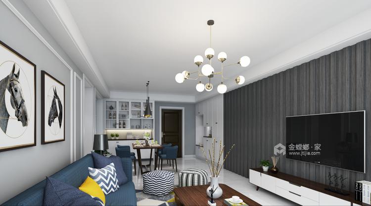 黑白空间,只做纯粹的自己!-客厅效果图及设计说明