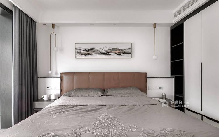 黑白空间,只做纯粹的自己!-卧室效果图及设计说明