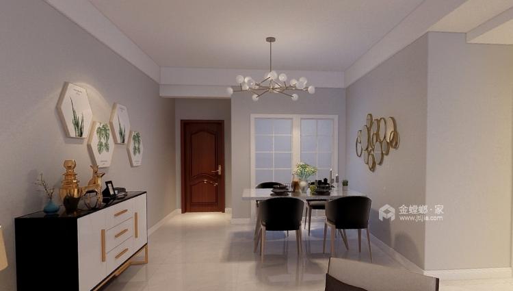 白与灰的碰撞,极具创意的设计和谐统一层次分明-餐厅效果图及设计说明