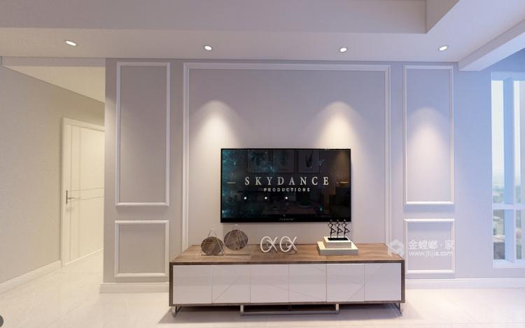 白与灰的碰撞,极具创意的设计和谐统一层次分明-客厅效果图及设计说明