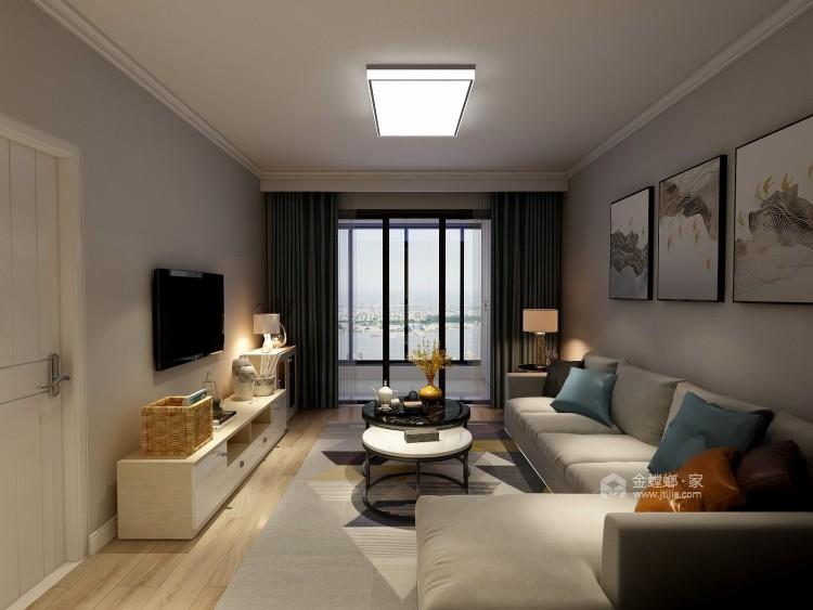 轻奢有度,满目温馨的现代风-客厅效果图及设计说明