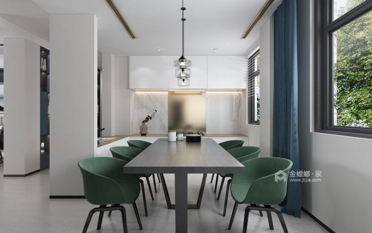 现代极简风的完美呈现-餐厅效果图及设计说明