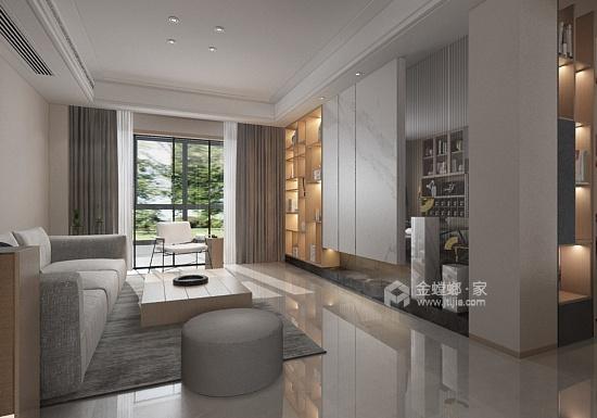 现代极简风的完美呈现-客厅效果图及设计说明