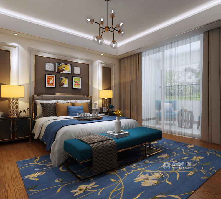 197平米后现代,庄重雅致而不失活力-卧室效果图及设计说明