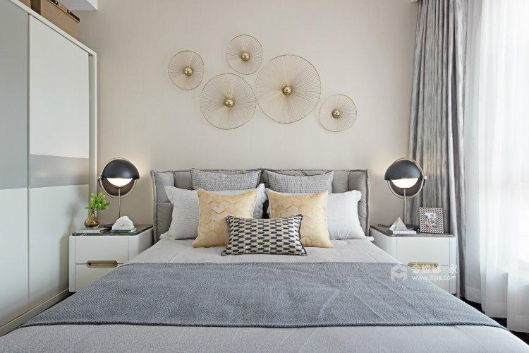 120平米后现代,深浅搭配,连呼吸都是艺术的味道-卧室效果图及设计说明