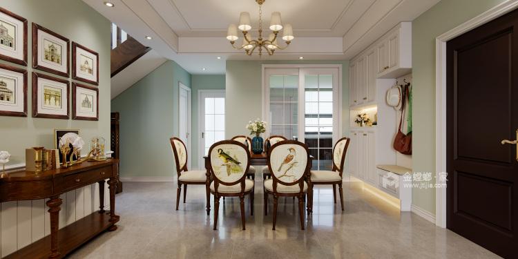 165平米美式轻奢,溢于言表的艺术-餐厅效果图及设计说明