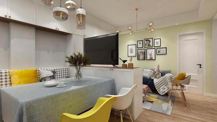 92平舒适小家,满满北欧风情-空间效果图