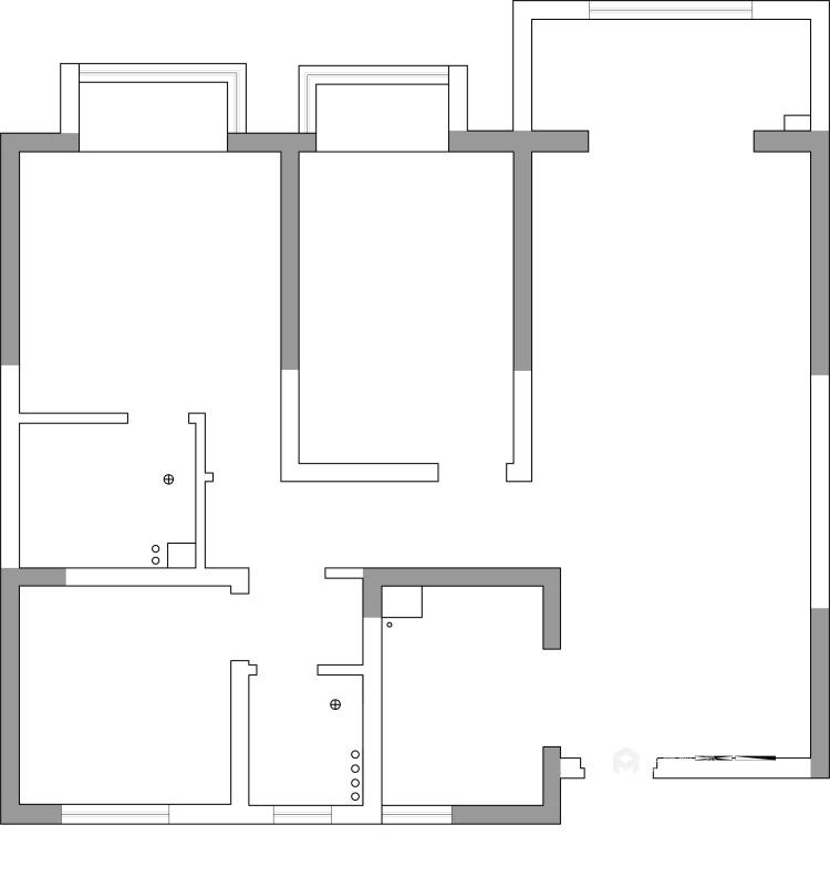 公寓这样装现代又温馨-业主需求&原始结构图