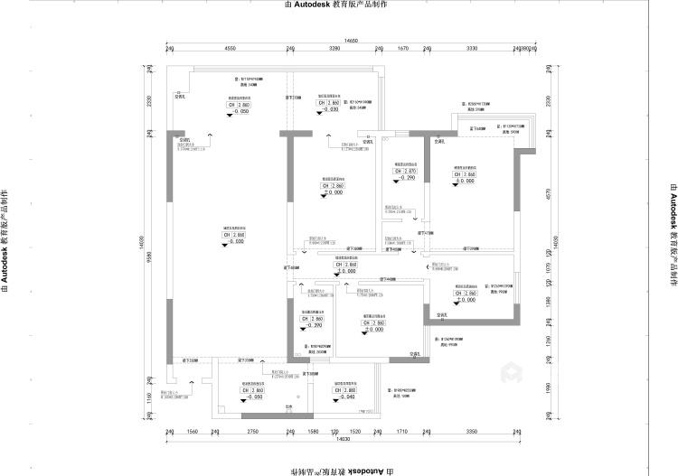 软装巧妙混搭 勾勒精致现代风-业主需求&原始结构图