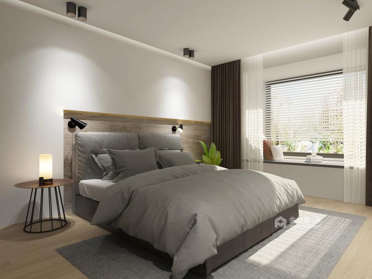 公寓这样装现代又温馨-卧室效果图及设计说明