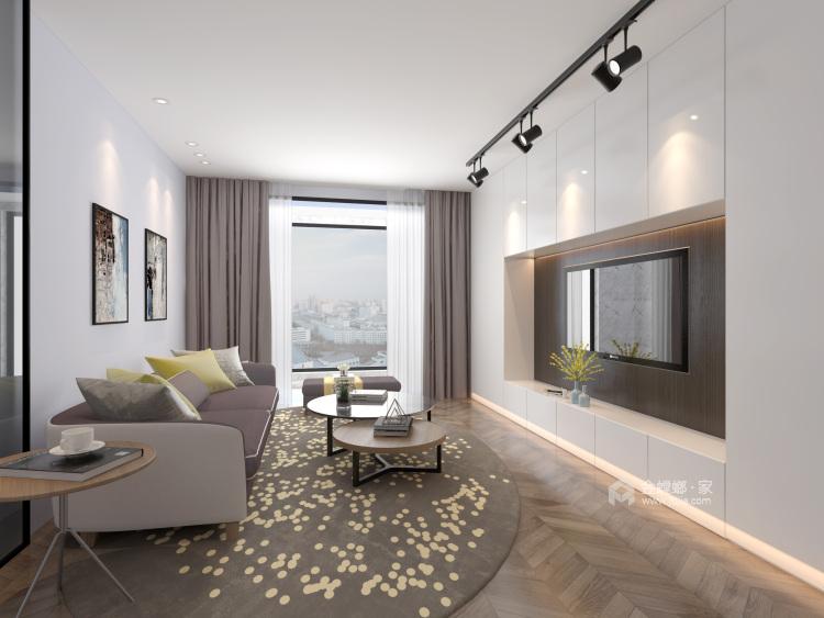 公寓这样装现代又温馨-客厅效果图及设计说明