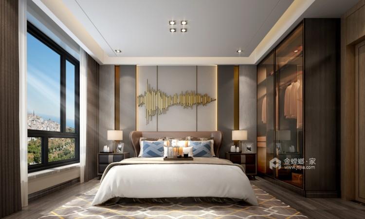 软装巧妙混搭 勾勒精致现代风-卧室效果图及设计说明