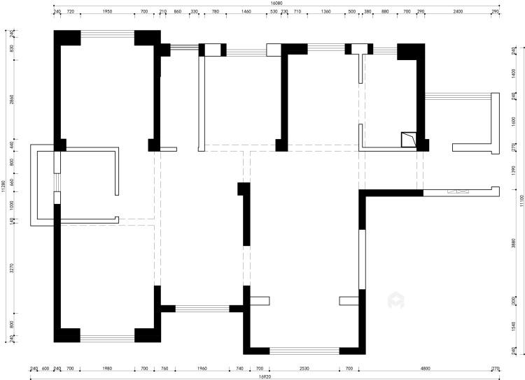 142平跳色搭配 尽显城市轻奢现代风-业主需求&原始结构图