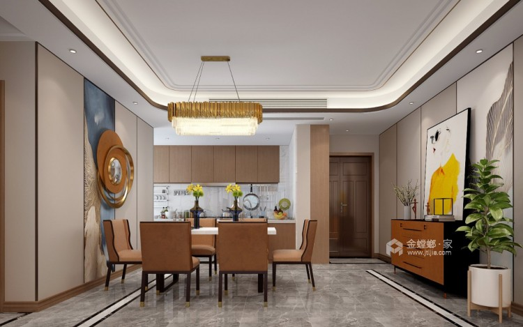 软装巧妙混搭 勾勒精致现代风-餐厅效果图及设计说明