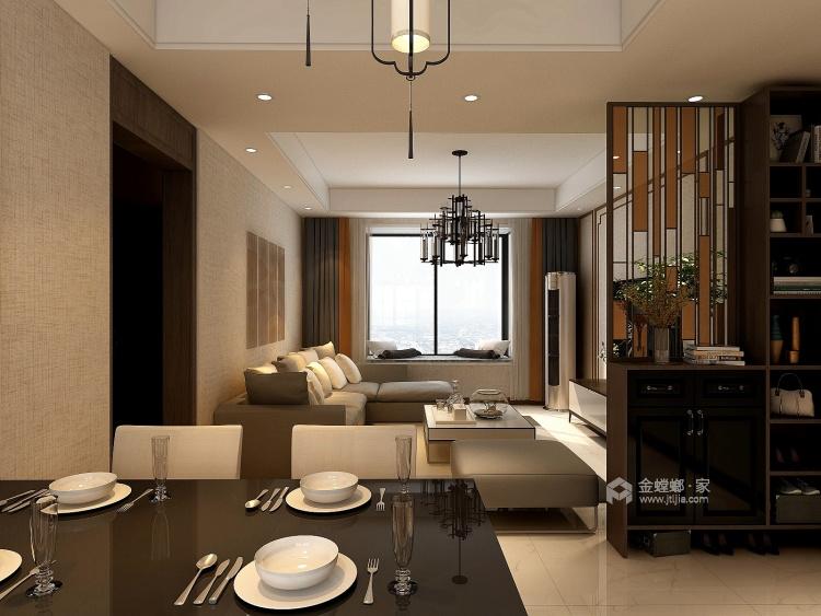 120平简约不简单的新中式风-餐厅效果图及设计说明