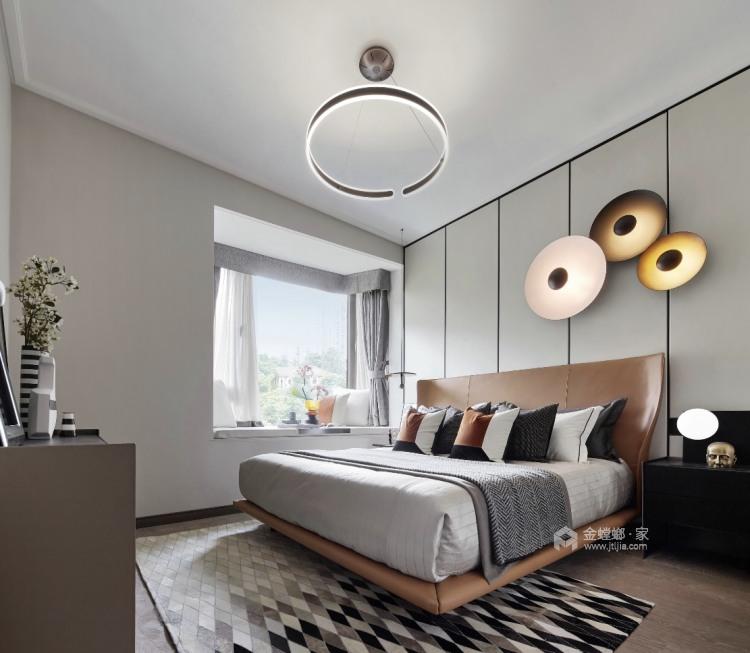 142平跳色搭配 尽显城市轻奢现代风-卧室效果图及设计说明