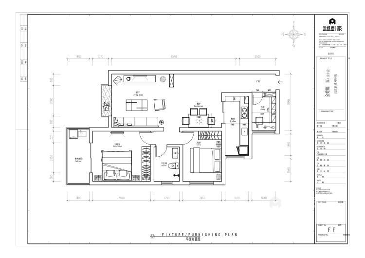 120平简约不简单的新中式风-平面设计图及设计说明