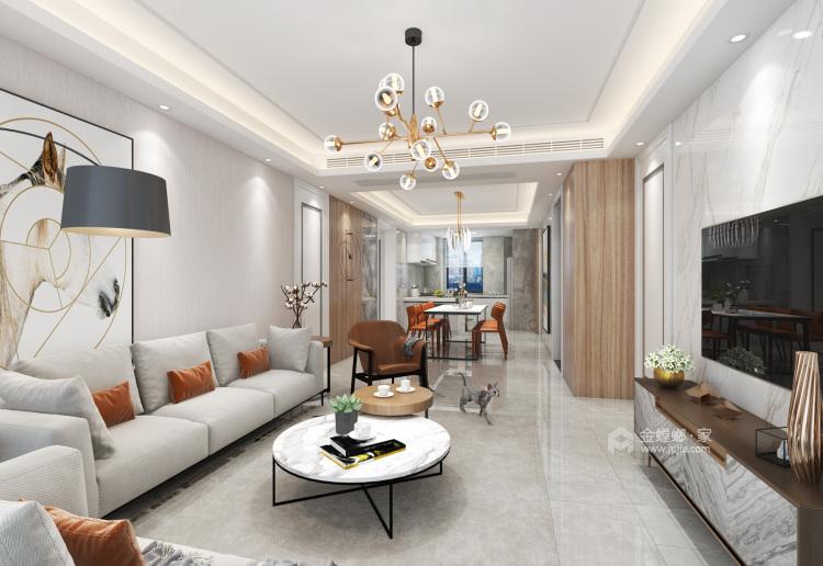 145平简约现代风 享小资之家-客厅效果图及设计说明