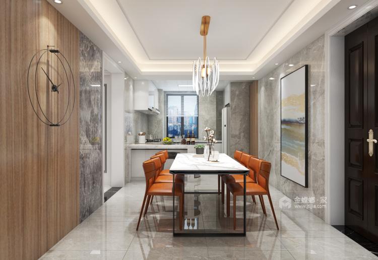 145平简约现代风 享小资之家-餐厅效果图及设计说明