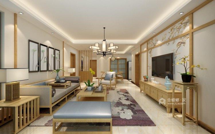 140平中式韵味新中本色-卧室效果图及设计说明
