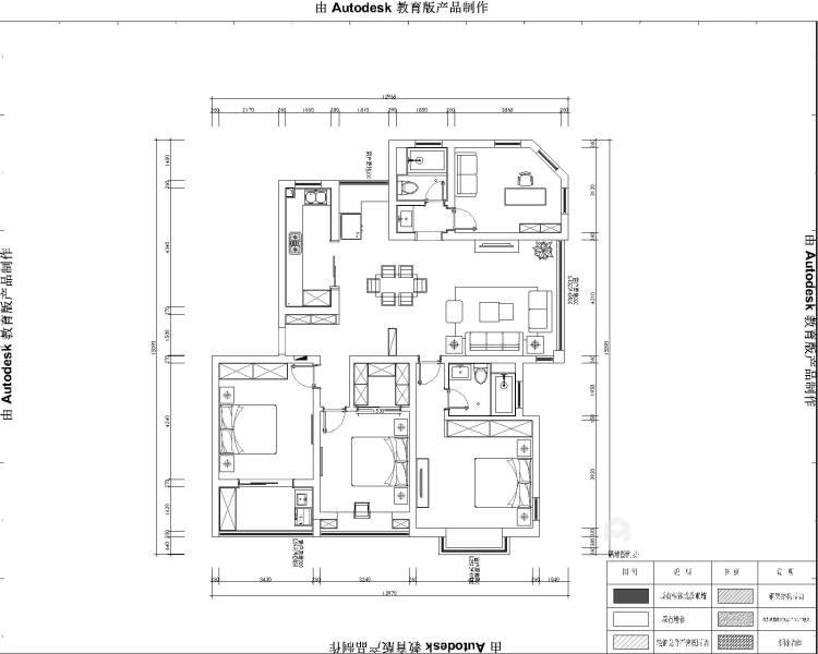 140平中式韵味新中本色-平面设计图及设计说明