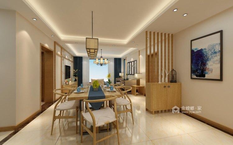 140平中式韵味新中本色-餐厅效果图及设计说明
