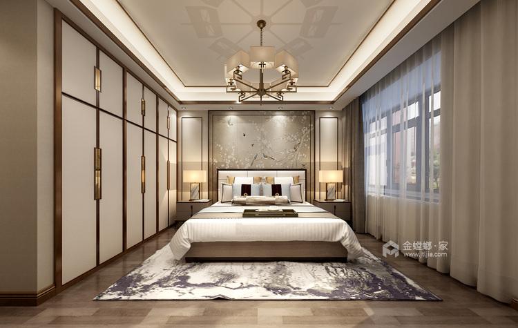 其乐融融 180平四代人的中式家-卧室效果图及设计说明