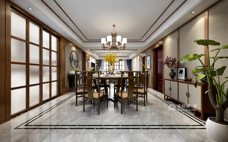 其乐融融 180平四代人的中式家-餐厅效果图及设计说明